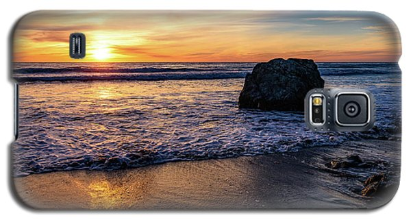 Sunset At San Simeon Beach Galaxy S5 Case