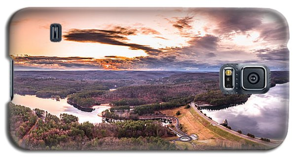 Galaxy S5 Case featuring the photograph Sunset At Saville Dam - Barkhamsted Reservoir Connecticut by Petr Hejl
