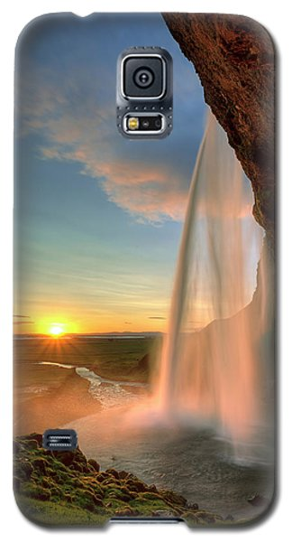 Sunset At Seljalandsfoss Galaxy S5 Case
