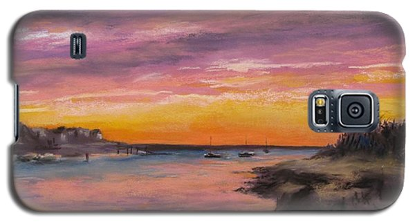 Sunset At Sesuit Harbor Galaxy S5 Case by Jack Skinner