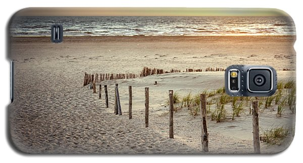 Galaxy S5 Case featuring the photograph Sunset At The Beach by Hannes Cmarits