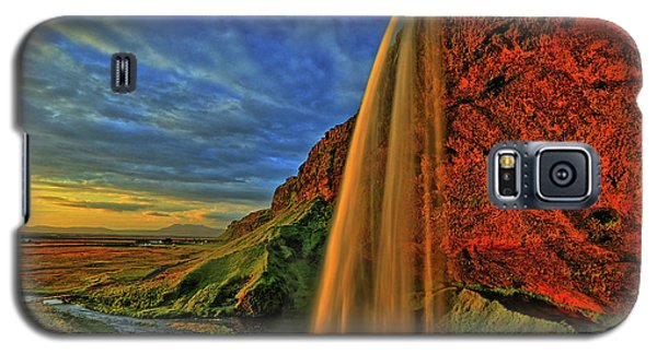 Galaxy S5 Case featuring the photograph Sunset At The Falls by Scott Mahon