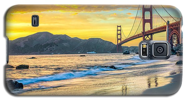 Sunset At The Golden Gate Bridge Galaxy S5 Case