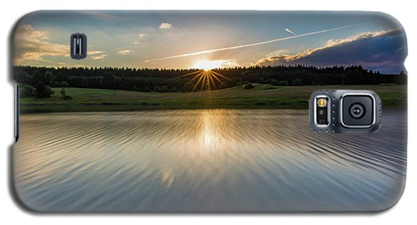 Sunset At The Mandelholz Dam, Harz Galaxy S5 Case