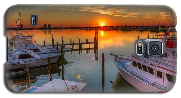 Sunset At The Marina Galaxy S5 Case