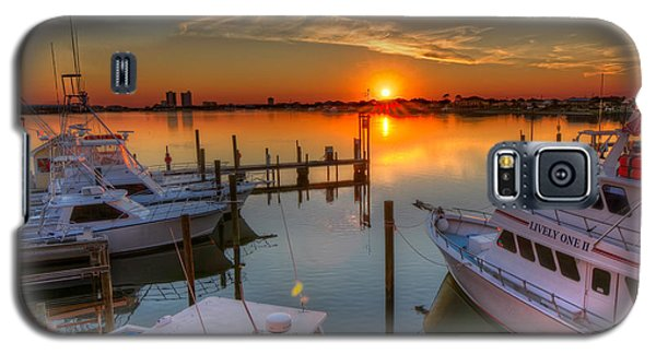 Sunset At The Marina Galaxy S5 Case