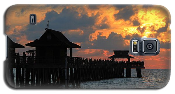 Sunset At The Naples Pier Galaxy S5 Case