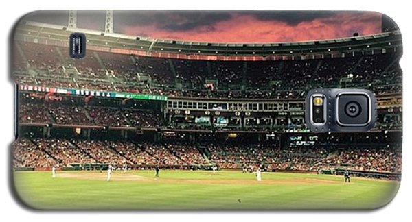 Nerd Galaxy S5 Case - Sunset At A Reds Game by Erin Mintchell