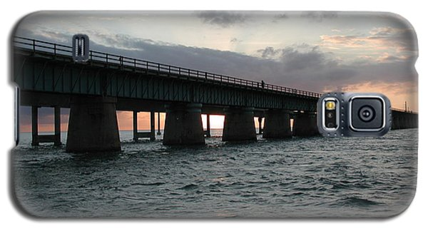 Galaxy S5 Case featuring the photograph Sunset At The Seven Mile Bridge by Nancy Taylor