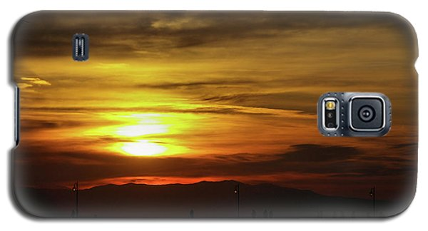 Galaxy S5 Case featuring the photograph Sunset At Thessaloniki by Tim Beach