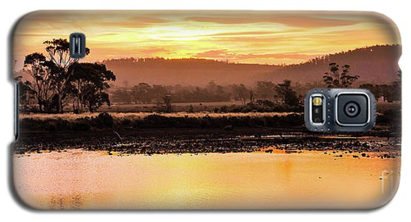 Sunset At Triabunna Tasmania Galaxy S5 Case by Lexa Harpell