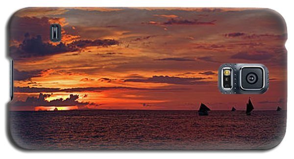 sunset at White Beach Galaxy S5 Case by Joerg Lingnau