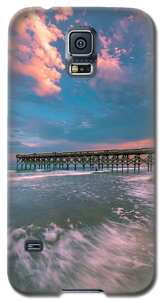 Sunset At Wilmington Crystal Pier In North Carolina Galaxy S5 Case