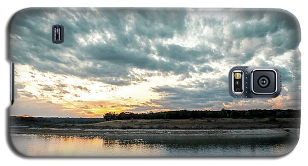 Sunset Behind Small Hill With Storm Clouds In The Sky Galaxy S5 Case