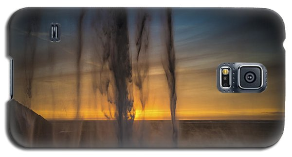 Galaxy S5 Case featuring the photograph Sunset Behind The Waterfall by Chris McKenna