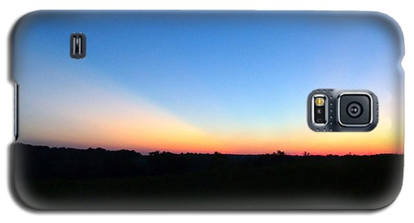 Galaxy S5 Case featuring the digital art Sunset Blue by Jana Russon