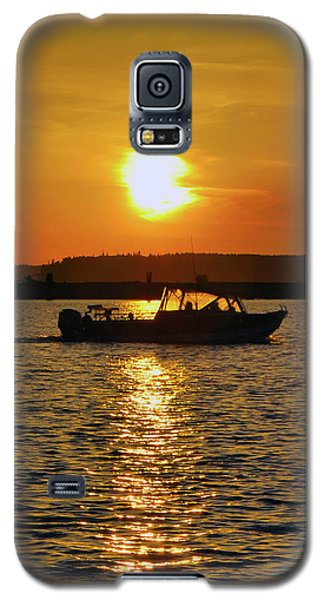 Sunset Boat Galaxy S5 Case