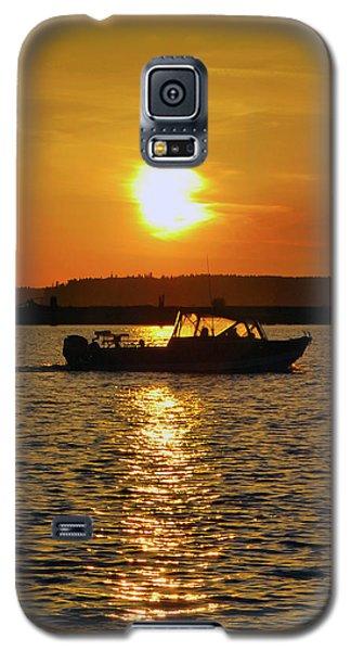 Sunset Boat Galaxy S5 Case