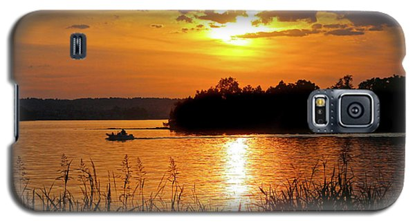 Sunset Boater, Smith Mountain Lake Galaxy S5 Case