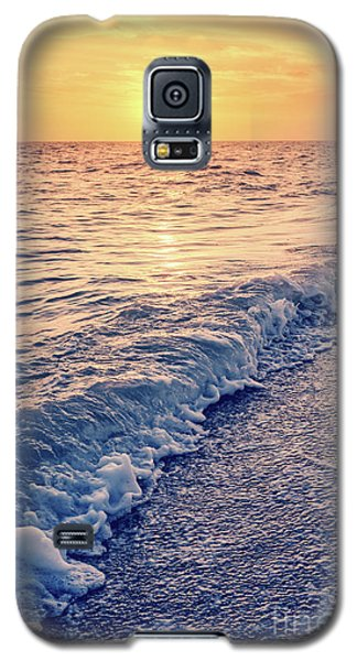 Galaxy S5 Case featuring the photograph Sunset Bowman Beach Sanibel Island Florida Vintage by Edward Fielding