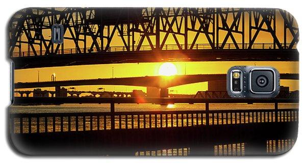 Galaxy S5 Case featuring the photograph Sunset Bridge 3 by Arthur Dodd