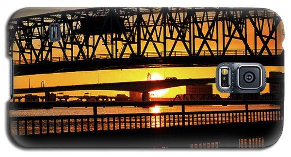 Galaxy S5 Case featuring the photograph Sunset Bridge 4 by Arthur Dodd