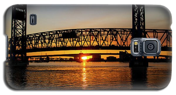 Galaxy S5 Case featuring the photograph Sunset Bridge 5 by Arthur Dodd
