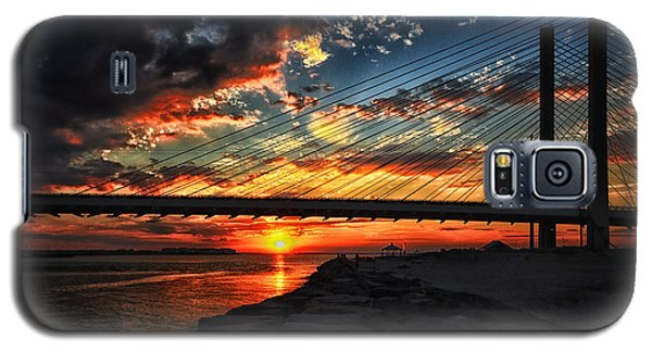 Sunset Bridge At Indian River Inlet Galaxy S5 Case