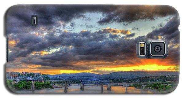 Sunset Bridges Of Chattanooga Walnut Street Market Street Galaxy S5 Case