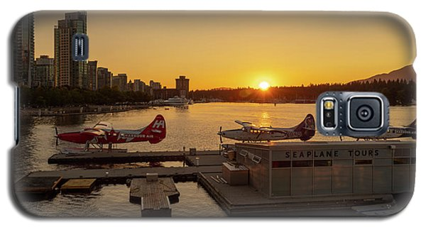 Sunset By The Seaplanes Galaxy S5 Case