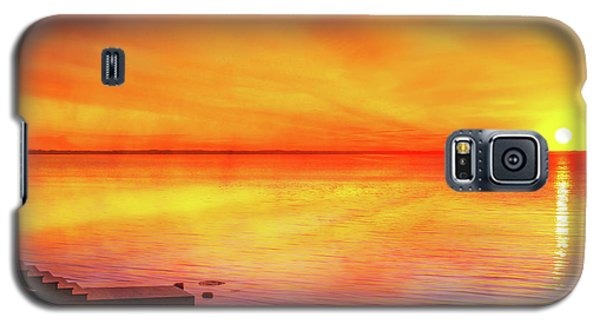 Galaxy S5 Case featuring the digital art Sunset By The Shore by Randy Steele