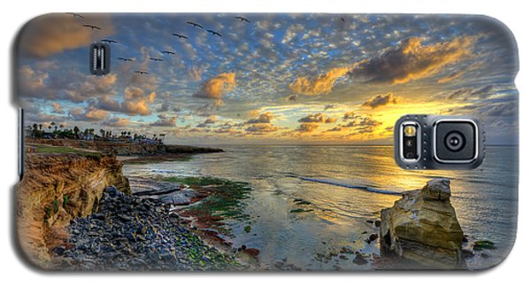 Sunset Cliffs With Brown Pelicans Galaxy S5 Case