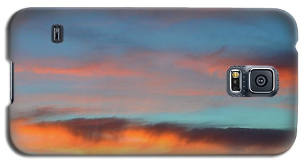 Sunset Clouds In Blue Sky  Galaxy S5 Case by Lyle Crump