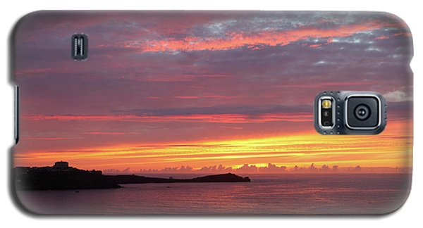 Galaxy S5 Case featuring the photograph Sunset Clouds In Newquay Cornwall by Nicholas Burningham