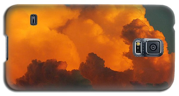Galaxy S5 Case featuring the digital art Sunset Clouds by Jana Russon