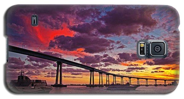 Sunset Crossing At The Coronado Bridge Galaxy S5 Case