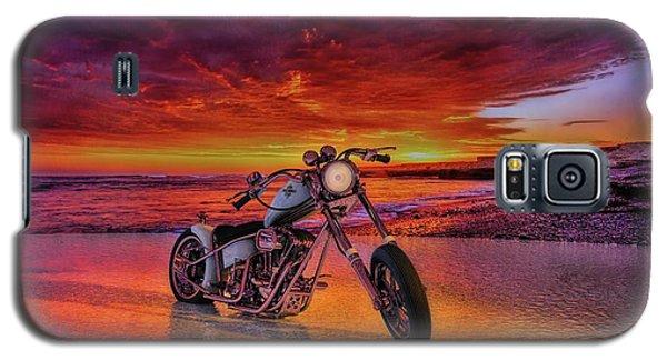 sunset Custom Chopper Galaxy S5 Case