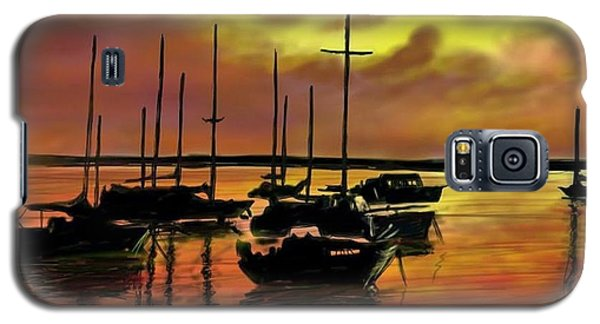 Galaxy S5 Case featuring the digital art Sunset by Darren Cannell