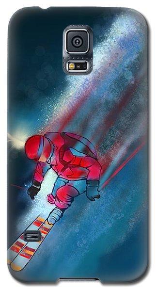 Sunset Extreme Ski Galaxy S5 Case