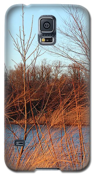 Sunset Field Over Water Galaxy S5 Case