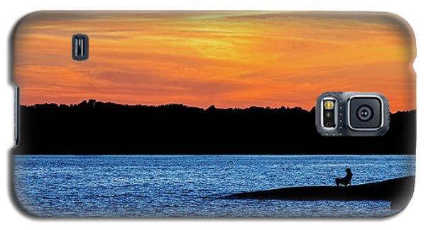 Sunset Fisherman  Galaxy S5 Case