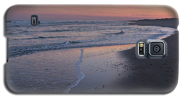 Galaxy S5 Case featuring the photograph Sunset Fishing Seaside Park Nj by Terry DeLuco