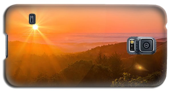 Sunset Fog Over The Pacific #1 Galaxy S5 Case