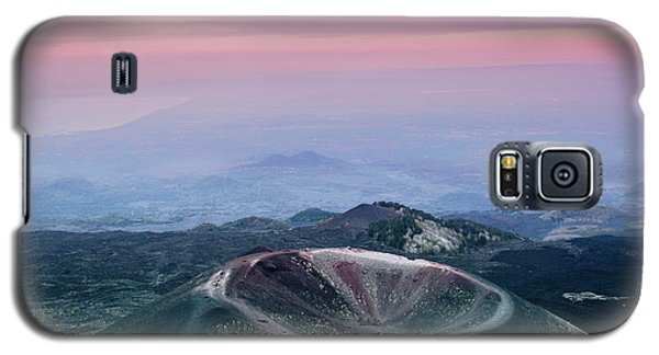 Sunset From The Top Of The Etna Galaxy S5 Case