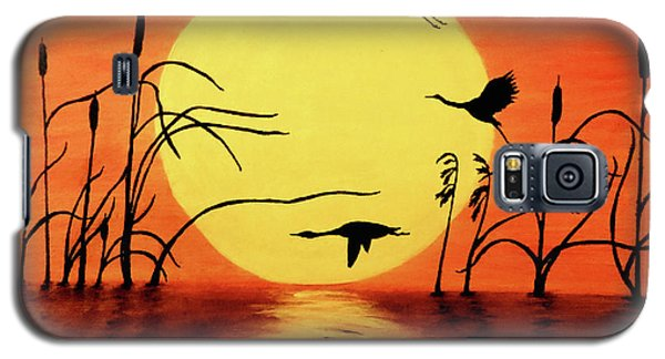 Sunset Geese Galaxy S5 Case by Teresa Wing