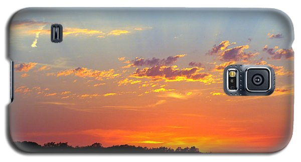 Sunset Glory Orange Blue Galaxy S5 Case