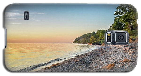 Sunset Glow Over Lake Galaxy S5 Case