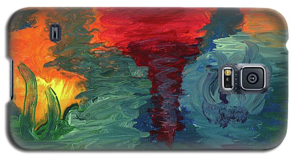 Galaxy S5 Case featuring the painting Sunset I by Ania M Milo