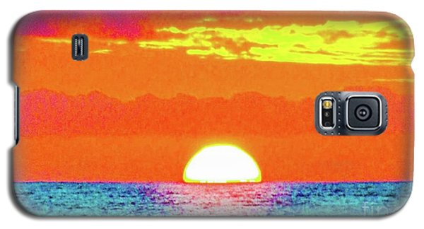 Sunset In Abstract 500 Galaxy S5 Case