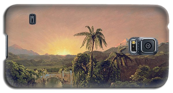Sunset In Equador Galaxy S5 Case by Frederic Edwin Church